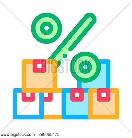 Wholesale Purchase Discount Color Icon Vector. Wholesale Purchase Discount Sign. Isolated Symbol Ill
