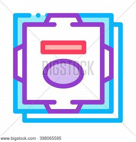 Processor Computer Component Color Icon Vector. Processor Computer Component Sign. Isolated Symbol I