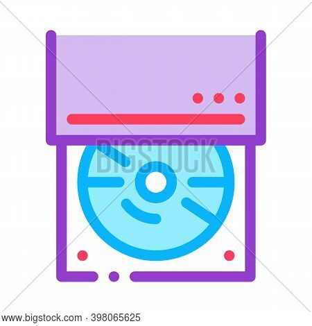 Optical Disc Drive Color Icon Vector. Optical Disc Drive Sign. Isolated Symbol Illustration