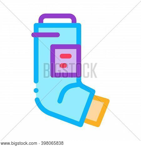 Inhaler Asthma Treatment Tool Color Icon Vector. Inhaler Asthma Treatment Tool Sign. Isolated Symbol