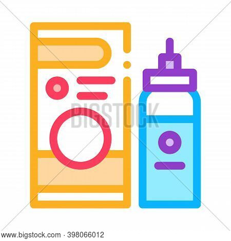 Medicaments Asthma Treatment Color Icon Vector. Medicaments Asthma Treatment Sign. Isolated Symbol I