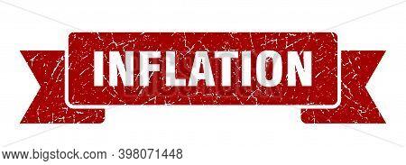 Inflation Ribbon. Inflation Grunge Band Sign. Inflation Banner