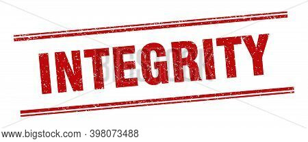 Integrity Stamp. Integrity Label. Square Grunge Sign