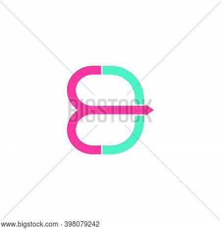 Abstract Letter Ed Simple Motion Arrow Geometric Line Logo Vector