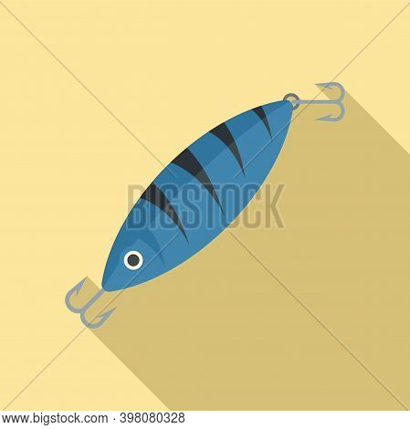 Fish Bait Icon. Flat Illustration Of Fish Bait Vector Icon For Web Design