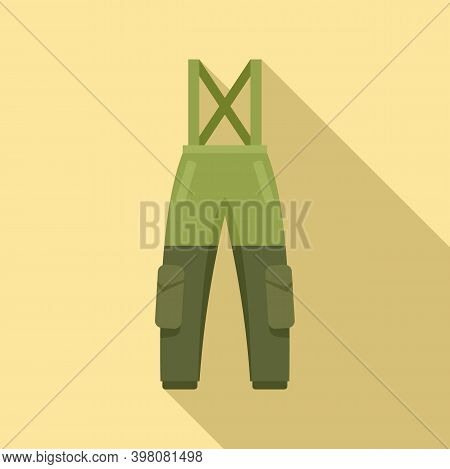 Fisherman Water Trousers Icon. Flat Illustration Of Fisherman Water Trousers Vector Icon For Web Des