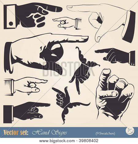 hands - pointing gesture