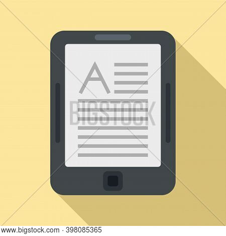 Linguist Tablet Icon. Flat Illustration Of Linguist Tablet Vector Icon For Web Design