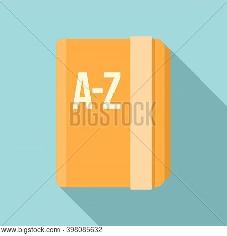 Linguist School Book Icon. Flat Illustration Of Linguist School Book Vector Icon For Web Design