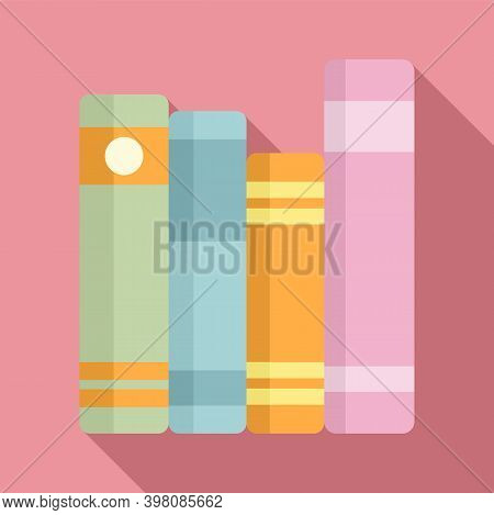 Linguist Book Shelf Icon. Flat Illustration Of Linguist Book Shelf Vector Icon For Web Design