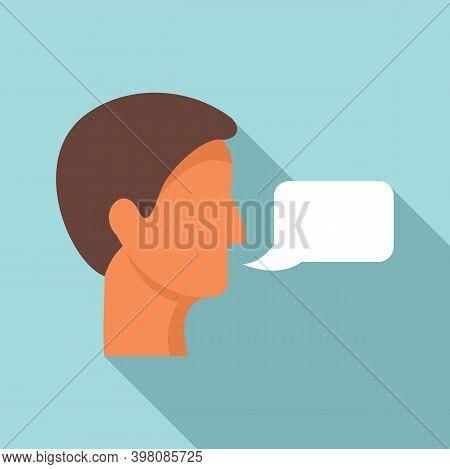 Linguist Translator Icon. Flat Illustration Of Linguist Translator Vector Icon For Web Design