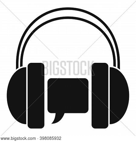 Audio Linguist Icon. Simple Illustration Of Audio Linguist Vector Icon For Web Design Isolated On Wh