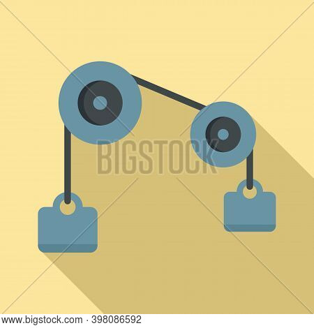 Physics Weight Icon. Flat Illustration Of Physics Weight Vector Icon For Web Design
