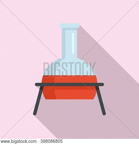 Chemical Flask Icon. Flat Illustration Of Chemical Flask Vector Icon For Web Design