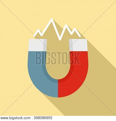 Physics Magnet Icon. Flat Illustration Of Physics Magnet Vector Icon For Web Design