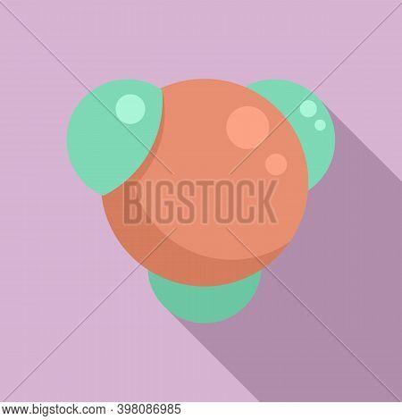 Physics Molecule Icon. Flat Illustration Of Physics Molecule Vector Icon For Web Design