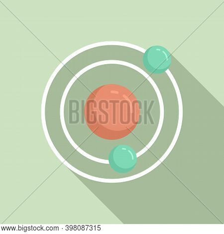 Biophysics Atom Icon. Flat Illustration Of Biophysics Atom Vector Icon For Web Design