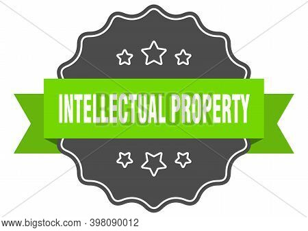 Intellectual Property Label. Intellectual Property Isolated Seal. Sticker. Sign