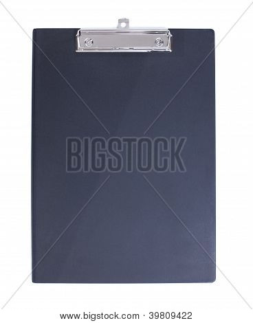 Black Clipboard isolated