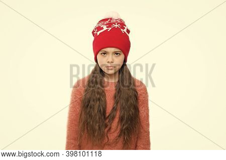 Winter Shampoo And Conditioner Prevent Hair Damage. Static And Frizz. Adorable Child Long Hair Soft