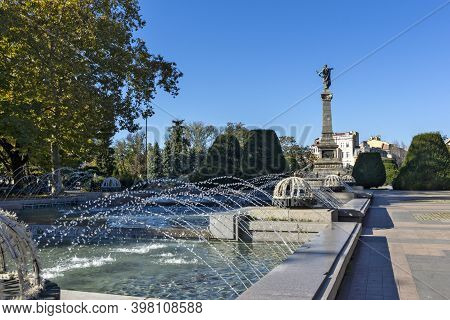 Ruse, Bulgaria -november 2, 2020: Monument Of Freedom At The Center Of City Of Ruse, Bulgaria