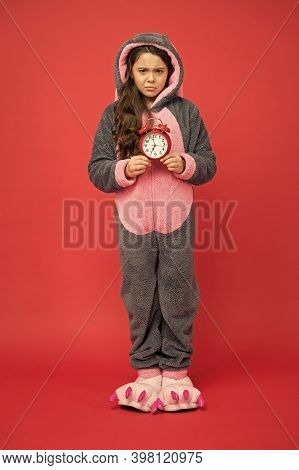 Kigurumi Pajamas For Your Comfort. Funny Child In Bunny Pajama. Different Times Of Day And Children