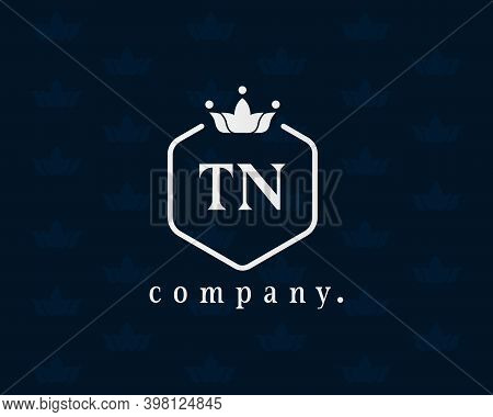 Letter Tn Royal Style Crown Monogram. Elegant, Graceful Typography Emblem. The Creative Vintage Symb