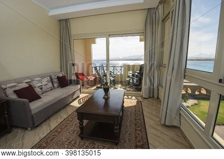 Living Room Lounge Area In Luxury Apartment Show Home Showing Interior Design Decor Furnishing With