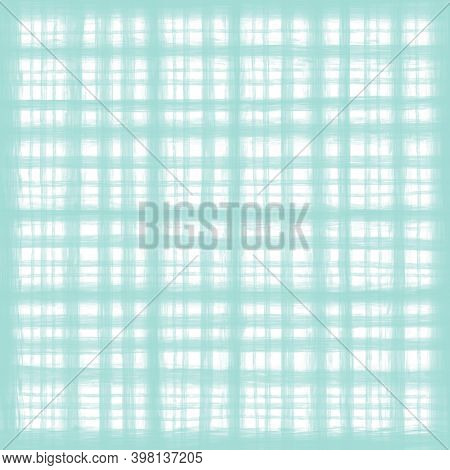 Light Green White Pastel Vintage Checkered Background With Blur, Gradient And Grunge Texture. Classi