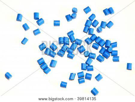 blue polymer resin