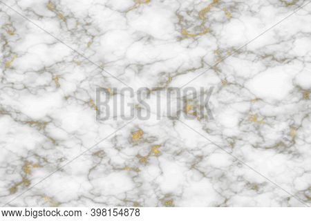 Gold Mineral Line Texture And Soft White Granite Marble Luxury Interior