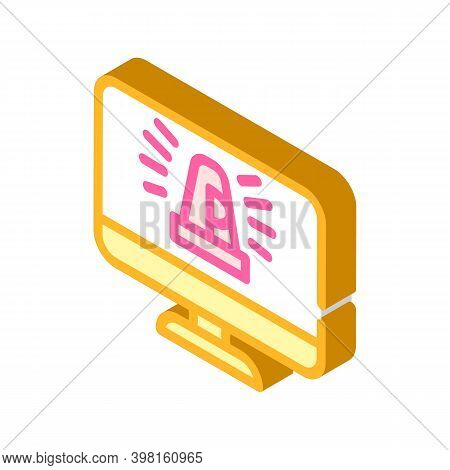 Project Deadlines Are Approaching Isometric Icon Vector Illustration