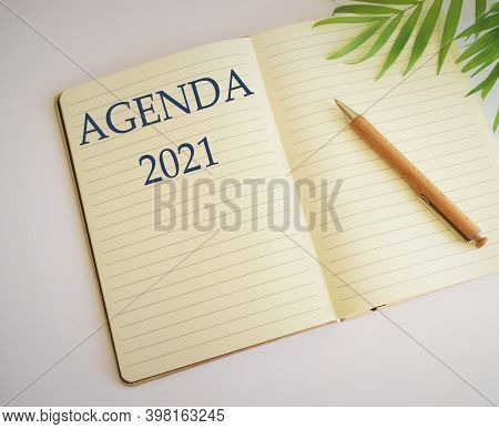 Conceptual Hand Writing Showing Agenda. Business Photo Showcasing List Items That Participants Hope