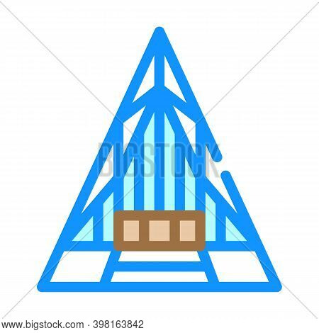 United States Air Force Academy Cadet Chapel Color Icon Vector Illustration