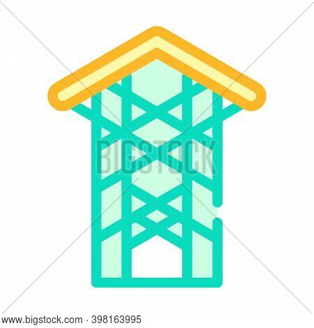 Thorn Crown Chapel Color Icon Vector Illustration