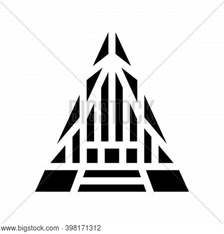 United States Air Force Academy Cadet Chapel Glyph Icon Vector Illustration