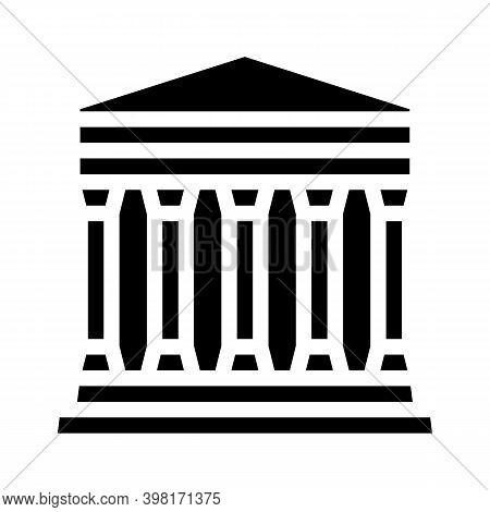 Concordia Temple, Agrigento Sicily Glyph Icon Vector Illustration