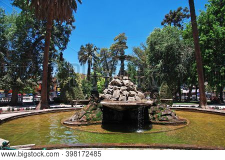 The Park In The Center Of San Felipe, Chile
