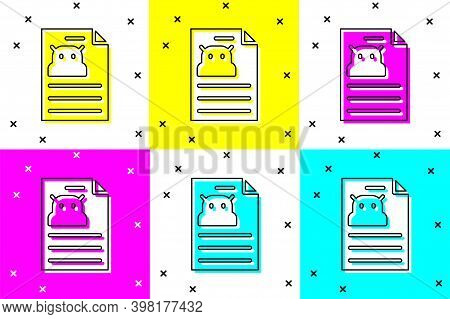 Set Technical Specification Icon Isolated On Color Background. Technical Support Check List, Team Wo
