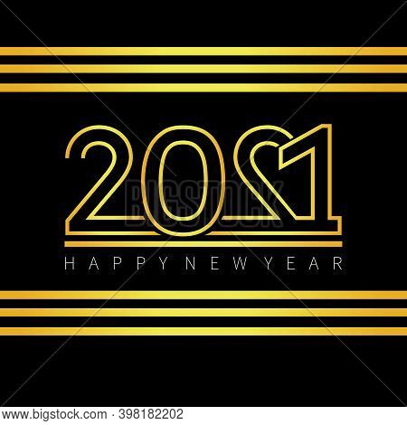 New Year 2021. 2021 Happy New Year Background. 2021 New Year Text Vector. 2021 New Year Text . 2021