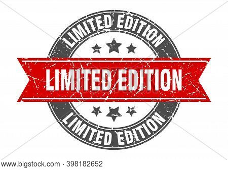 Limited Edition Round Stamp With Red Ribbon. Limited Edition