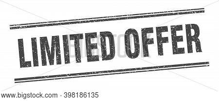 Limited Offer Stamp. Limited Offer Label. Square Grunge Sign