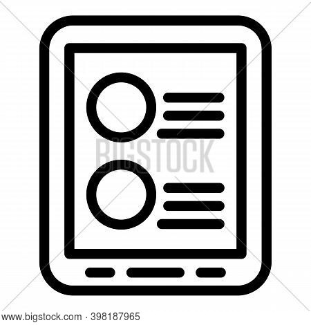Online Job Position Icon. Outline Online Job Position Vector Icon For Web Design Isolated On White B