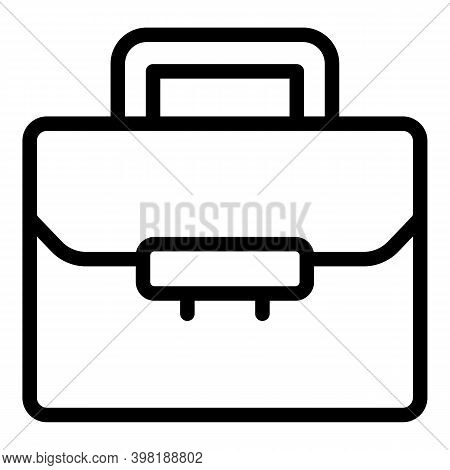 Academy Briefcase Icon. Outline Academy Briefcase Vector Icon For Web Design Isolated On White Backg