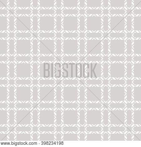 Subtle Ornamental Grid Texture. Vector Seamless Pattern With Square Net, Grid, Lattice, Mesh, Grill.
