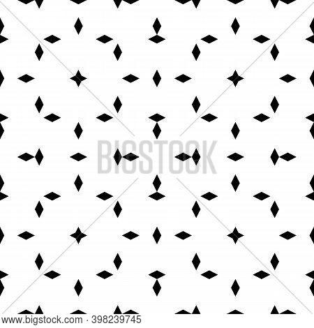 Seamless Pattern. Rhombuses, Stars Ornament. Diamonds, Figures Backdrop. Lozenges, Crosses Wallpaper