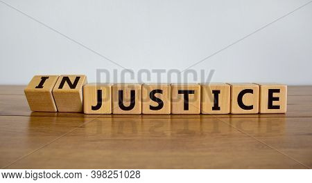 Justice Instead Of Injustice. Turned Cubes And Changed The Word 'injustice' To 'justice'. Beautiful