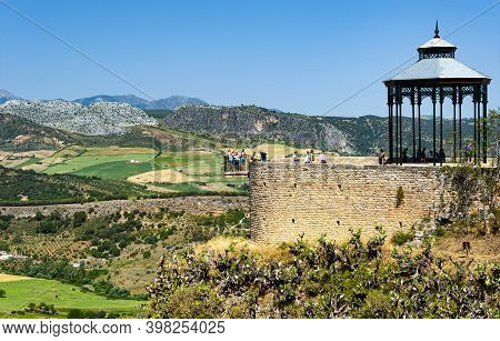 Ronda, Spain - May 22, 2017: Mountaintop Spanish Town Ronda, One Of The Most Visited In Andalusia, O