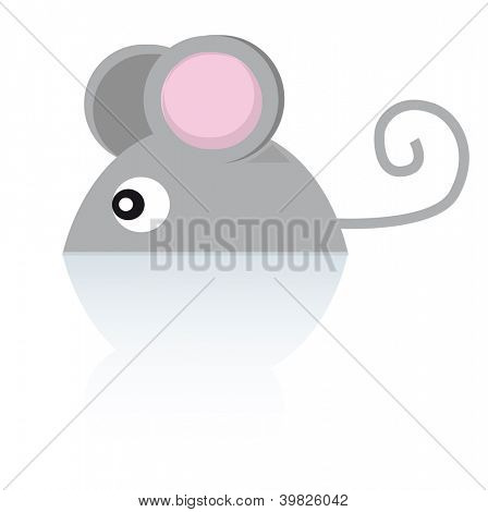 Mouse. A little mouse on the floor.