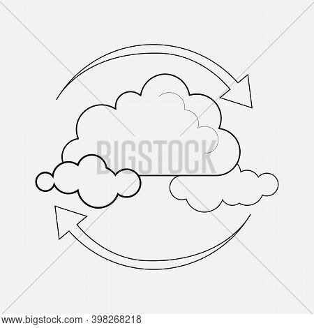 Air Purification Icon Line Element. Vector Illustration Of Air Purification Icon Line Isolated On Cl